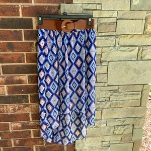 No Bound Geometric Short Long Skirt Jr L 11/13